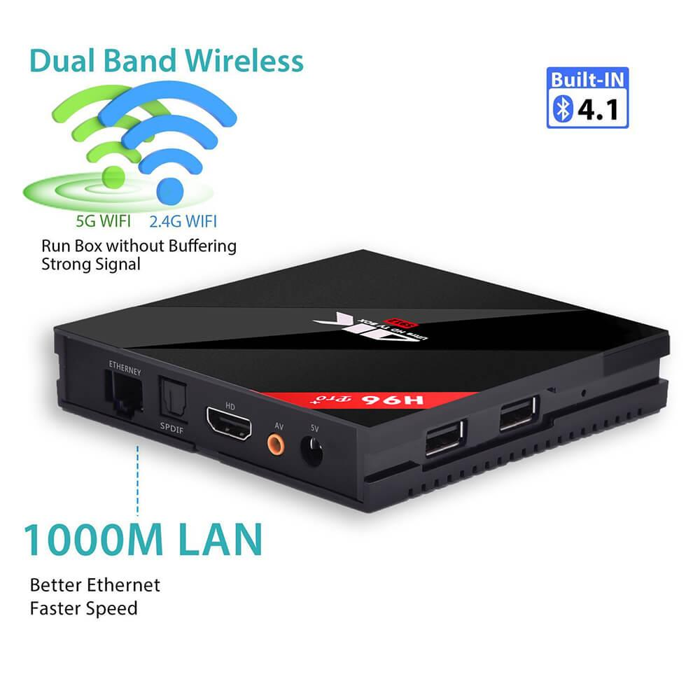 H96 PRO Plus KODI 17.3 Android 7.1 Amlogic S912 TV BOX 4K 3GB/32GB 802.11AC WIFI 1000M LAN