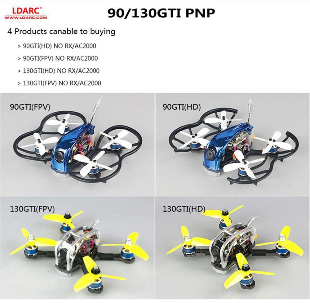 LDARC 130GTI HD 1080P 3Inch 4S FPV Racing Drone With F411 OSD 20A 48CH 200mW VTX Caddx Turtle V2 Camera PNP