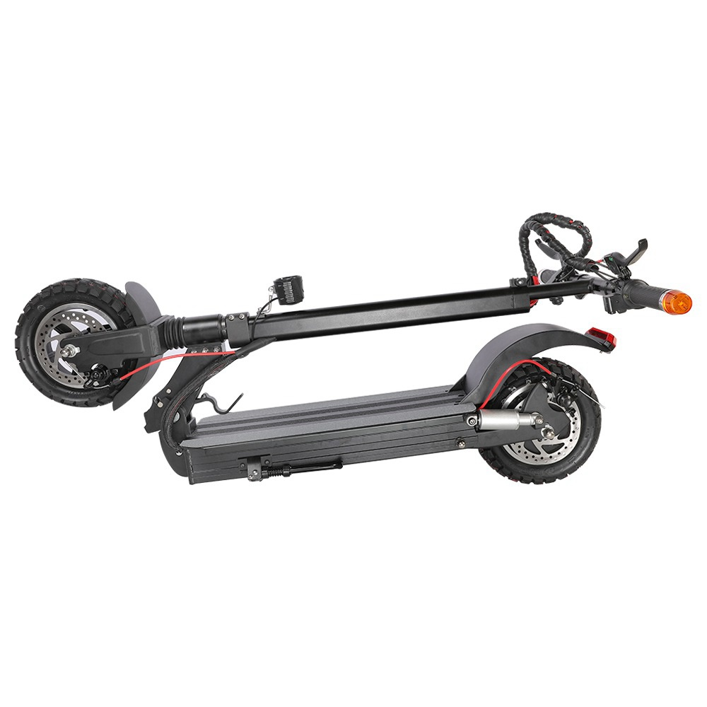 Tarsa T9 Off-road Folding Electric Scooter 500W Motor Max 40km/h 10Ah Battery 10 Inch Pneumatic Tire - Black