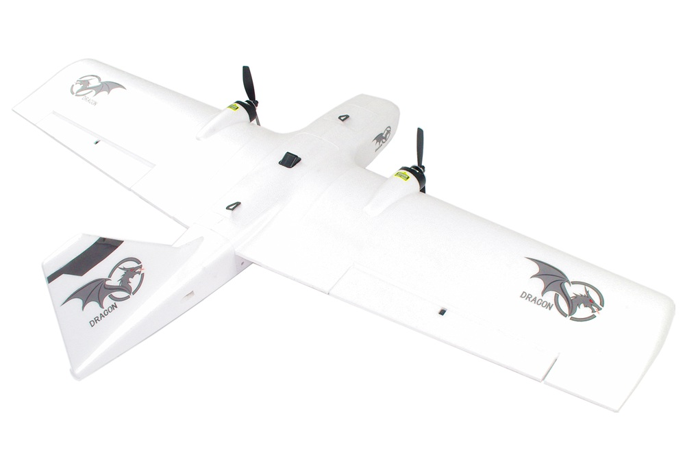 Reptile Dragon-1200 1200mm Wingspan EPP Dual Front Pull FPV Flying Wing RC Airplane With Power System - PNP Version