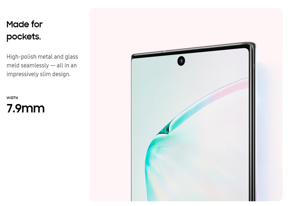 Samsung Galaxy Note 10 Plus 5G Smartphone 6.8 Inch Snapdragon 855 12GB 256GB 12.0MP+16.0MP+12.0MP+3D Depth Vision Quad Rear Cameras NFC Fingerprint ID Dual SIM Android 9.0 (Black) + Original Stylus Pen