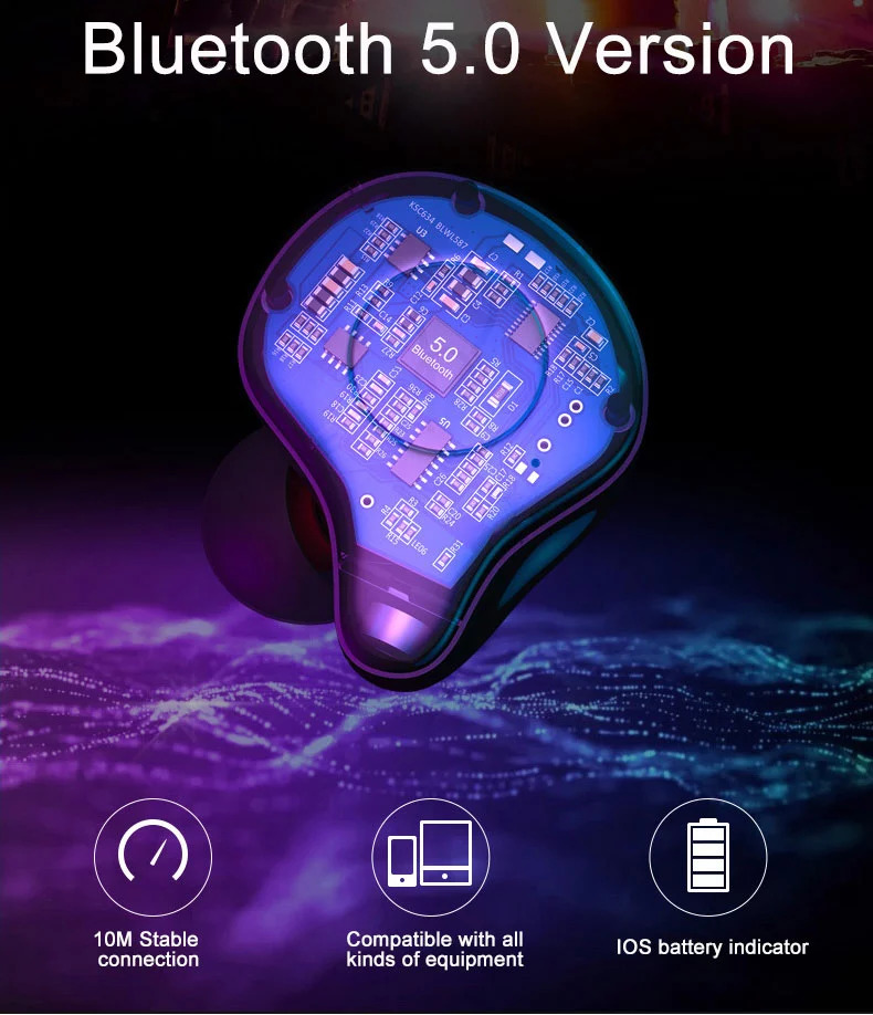 Sabbat E12 Ultra Qualcomm aptX AAC Bluetooth 5.0 TWS Earphones CVC 8.0 Independent Usage Siri Google Assistant 750mAh Charging Box - Grey
