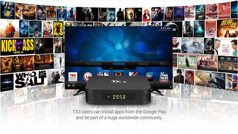 TANIX TX3 Amlogic S905x3 8K Video Decode Android 9.30 TV Box 4GB/64GB Spdif Bluetooth 2.4G+5.8G WiFi LAN USB3.0 Youtube Netflix Google Play