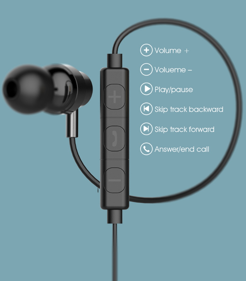 Haylou H8 3.5mm Stereo In-ear Earphones Noise Isolating with Mic