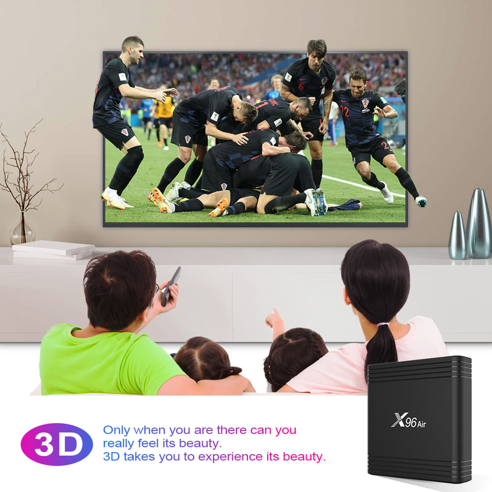 X96 Air Amlogic S905x3 8K Video Decode TV Box 4GB/32GB 2.4G+5.8G WiFi Bluetooth 100Mbps LAN USB3.0