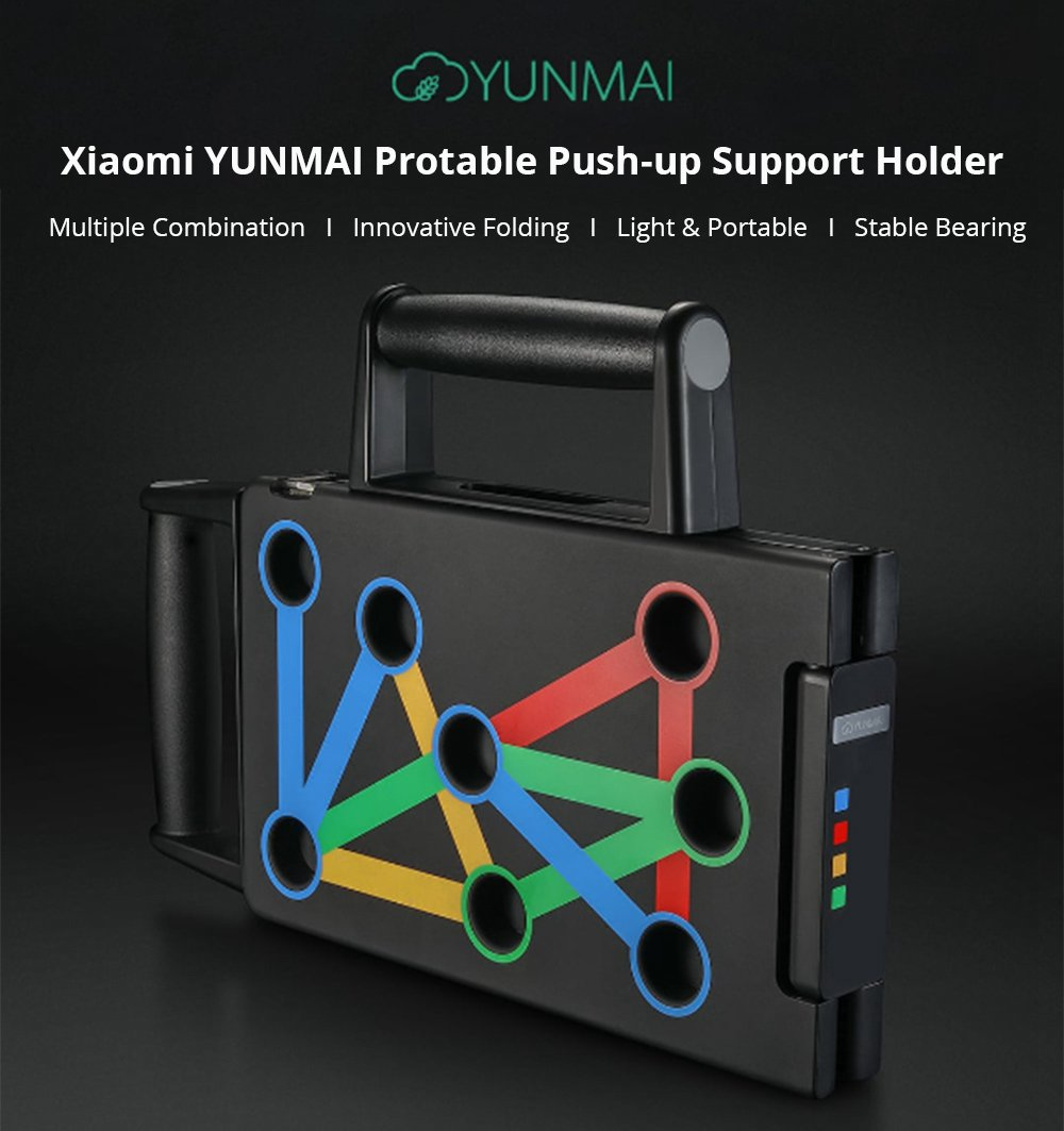 YUNMAI Protable Folding Push-up Support Holder Frosted Handle
