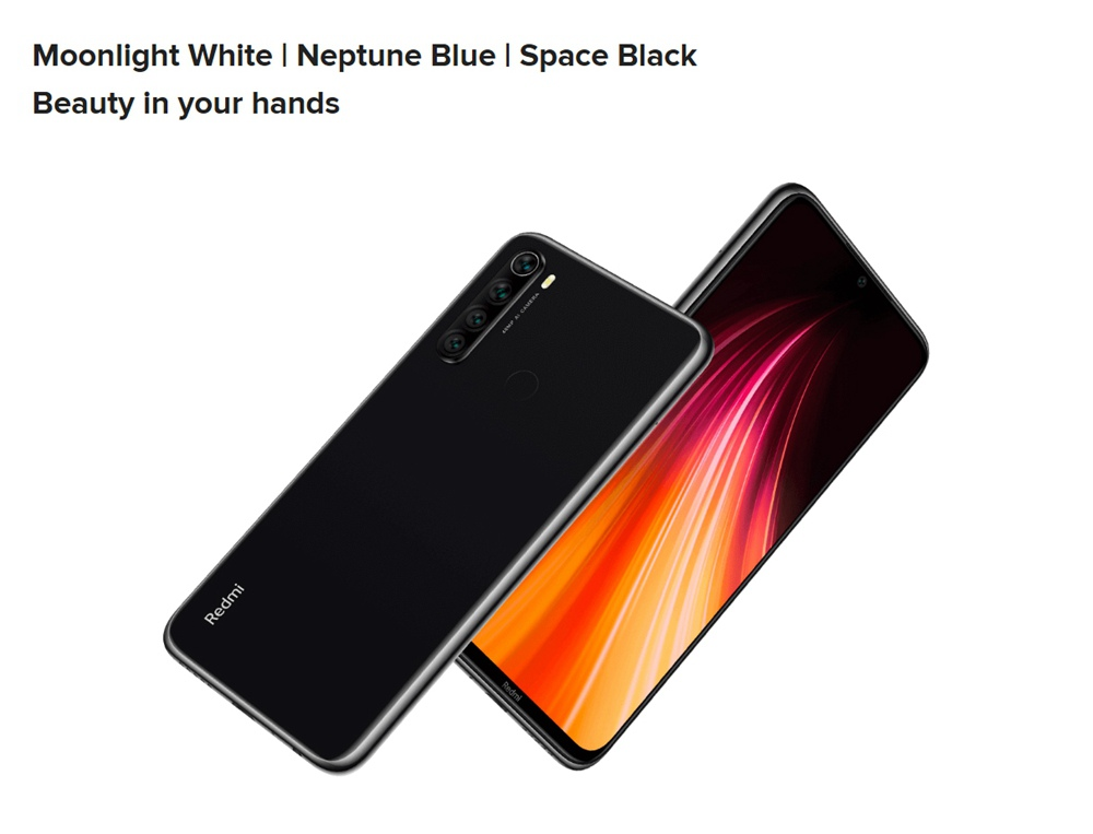 Xiaomi Redmi Note 8 6.3 Inch 4G LTE Smartphone Snapdragon 665 4GB 64GB 48.0MP+8.0MP+2.0MP+2.0MP Quad Rear Cameras Fingerprint ID Dual SIM Android 9.0 Global Version - Blue