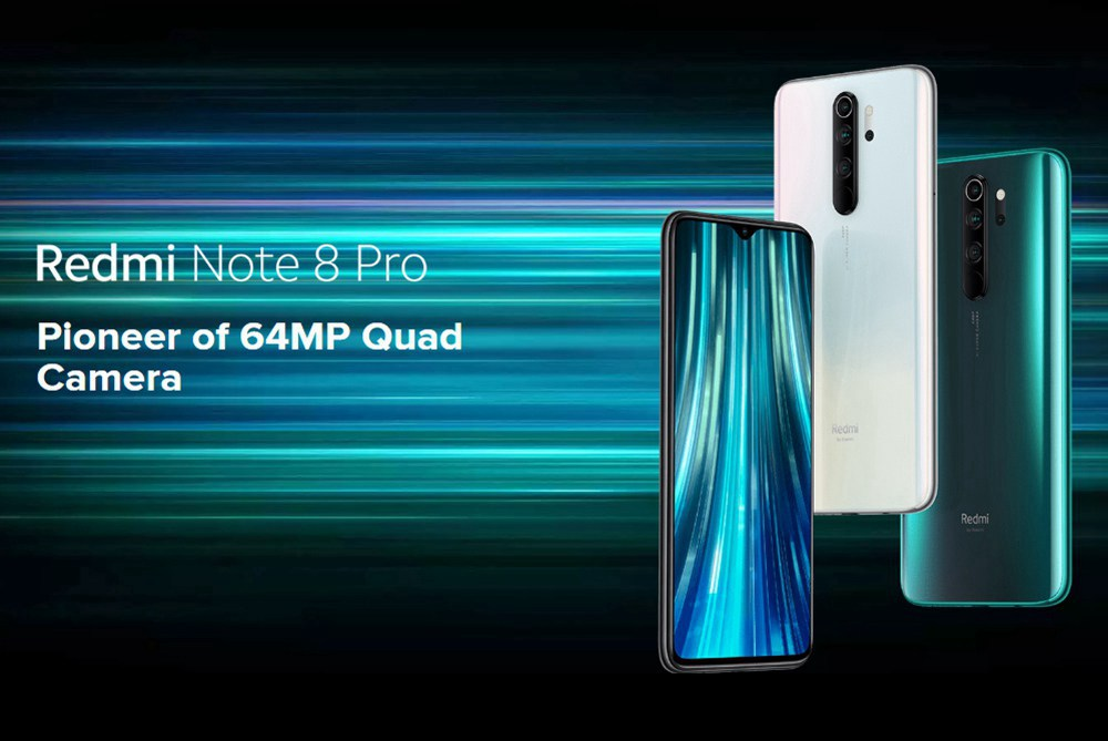 Xiaomi Redmi Note 8 Pro 6.53 Inch 4G LTE Smartphone MTK Helio G90T 6GB 128GB 64.0MP+8.0MP+2.0MP+2.0MP Quad Rear Cameras 4500mAh Battery MIUI 10 Fingerprint - Gray
