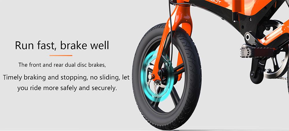 ONEBOT S6 Portable Folding Electric Bike 250W Motor Max 25km/h 6.4Ah Battery - Black