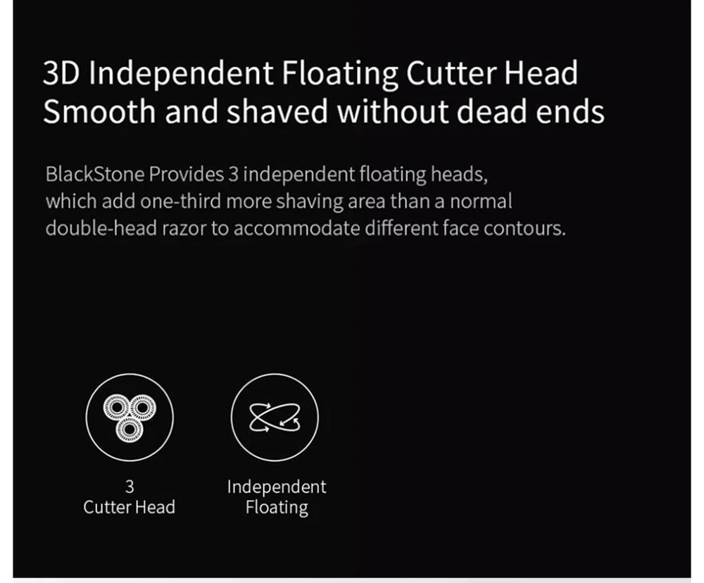 Xiaomi Enchen BlackStone 3D Smart Floating Blade Head Electric Shaver Waterproof USB Charging For Men - Black