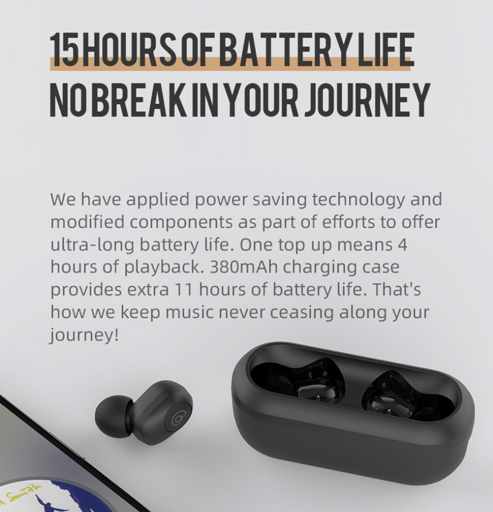 Haylou GT2 Bluetooth 5.0 TWS Earphones Siri Google Assistant 7.2mm Dynamic Driver Type-C Fast Charge