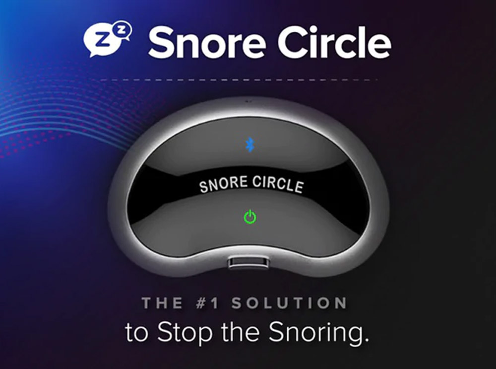 Snore Circle Smart Bluetooth Anti Snoring Device Throat Snore Stopper APP Recording Sleep Analysis