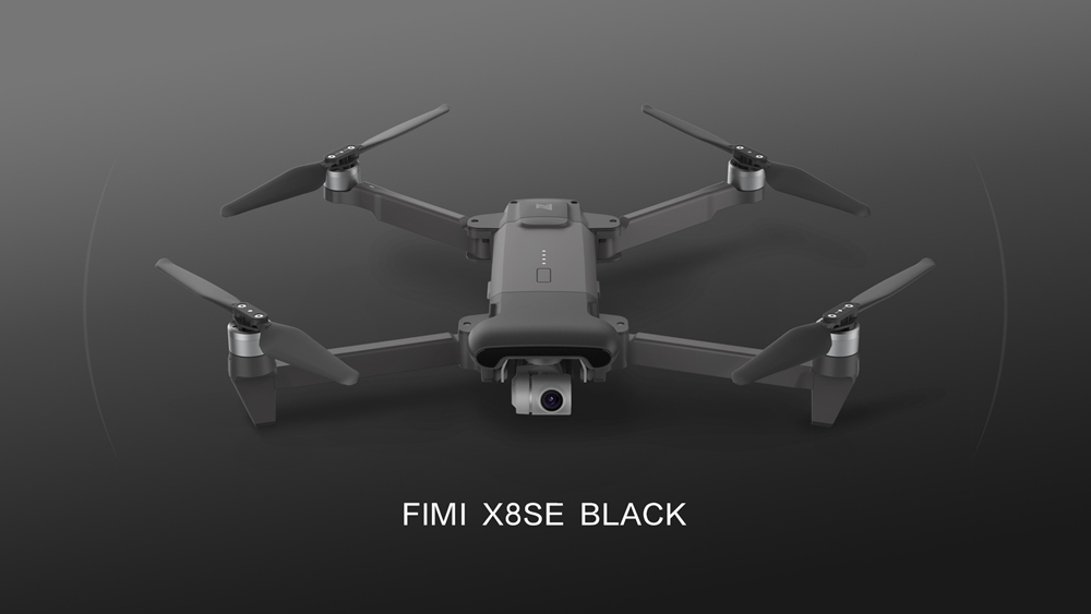 Xiaomi FIMI X8 SE Voyage Version 4K 5KM FPV Foldable GPS RC Drone With 3-axis Gimbal 33mins Flight Time RTF Black - One Battery With Bag