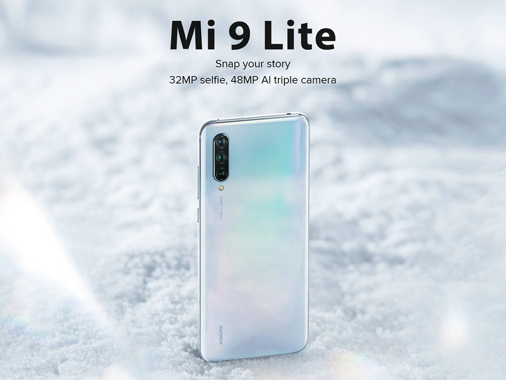 Xiaomi Mi 9 Lite 6.39 Inch 4G LTE Smartphone Snapdragon 710 6GB 128GB 48.0MP+8.0MP+2.0MP Triple Rear Cameras Fingerprint ID Dual SIM MIUI 10 Global Version - Onyx Grey
