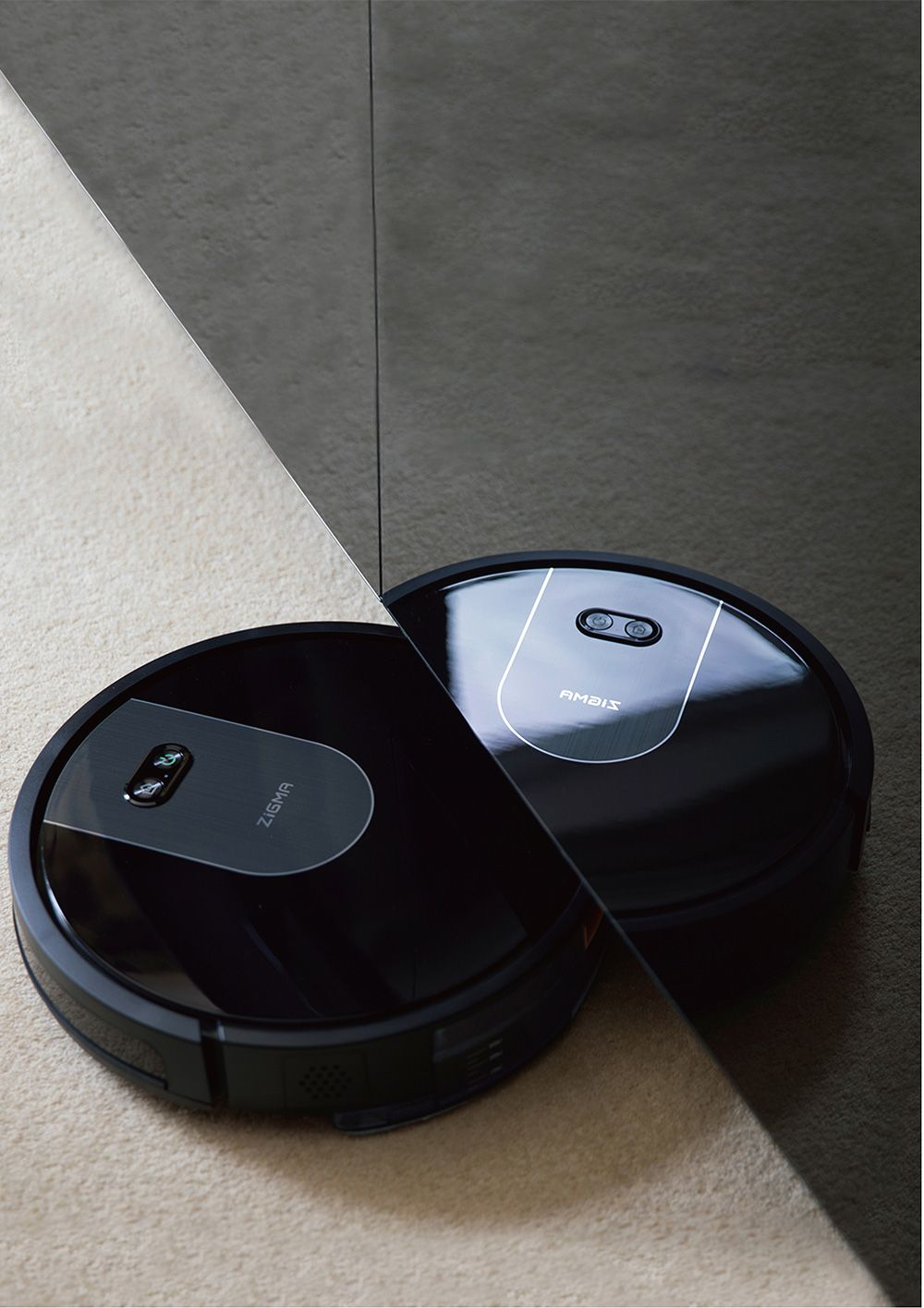 Zigma Spark Robot Vacuum Cleaner Virtual Wall Automatic Area Cleaning 1500pa Suction LDS Navigation APP Control - Black