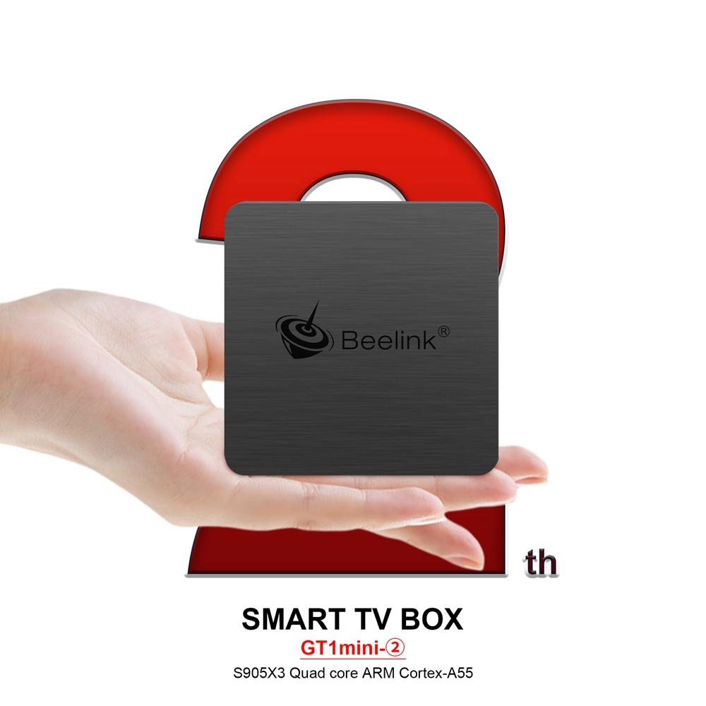 Beelink GT1 MINI-2 TV Box with Voice Remote Amlogic S905x3 4G/32G 2.4G+5.8G WiFi 1000Mbps LAN USB3.0