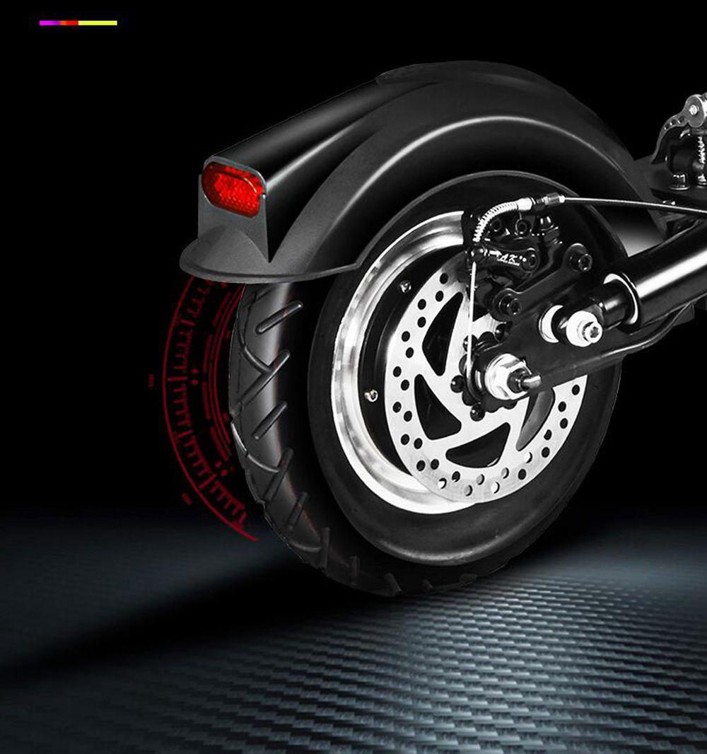 YOUPIN Q02 Scooter elettrico pieghevole 500W Motore 48V / 15Ah Sedili contenenti pneumatici da 10 pollici - NERO