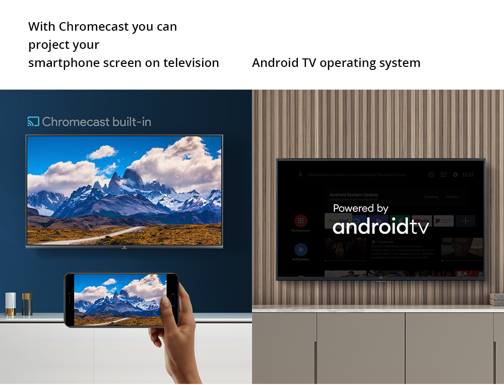 Xiaomi Mi TV 4A 32'' DVB-T2/C Android 9.0 Dolby + DTS Smart HD TV Voice Remote 1GB/8GB Youtube Google Play Chromecast 2.4G/5G WIFI HDMI*3 USB*2 - Black