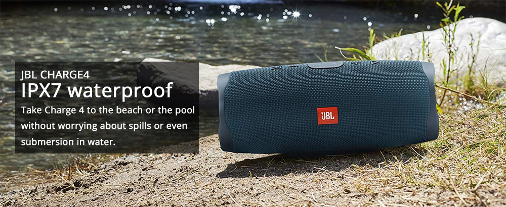 JBL Charge 4 Bluetooth HD Stereo Speaker IPX7 Type-C 20 Hours Playtime - Blue