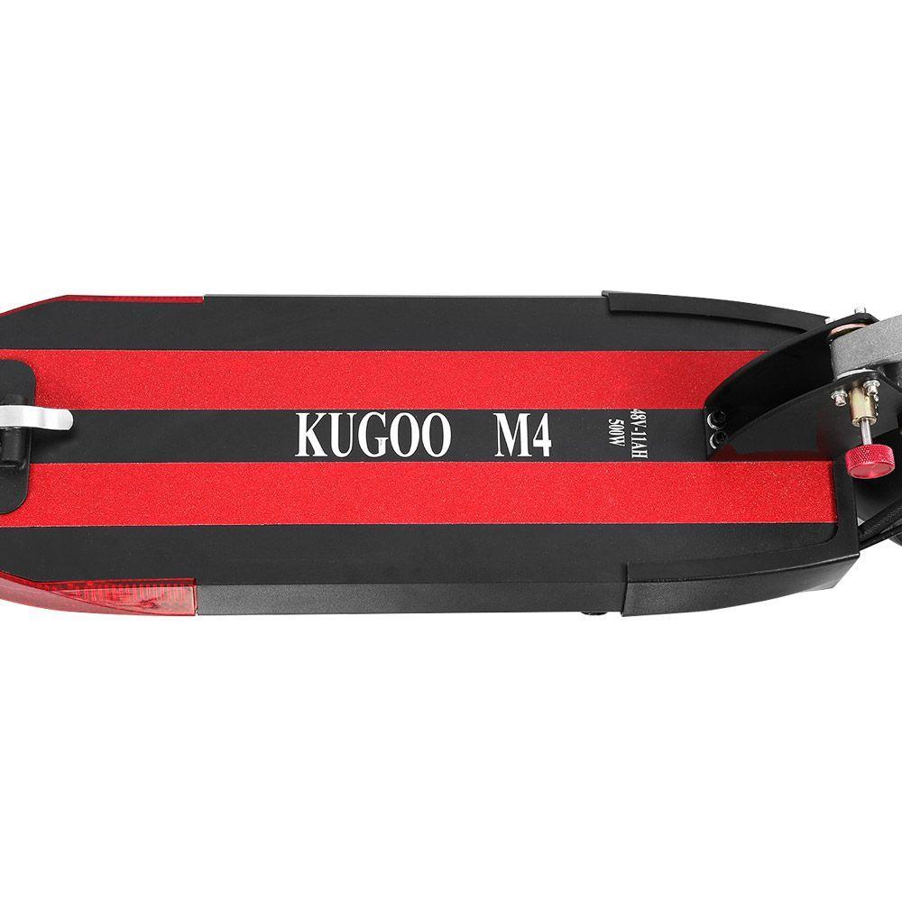 "KUGOO M4 Folding Electric Offroad Scooter 10"" Pneumatic Tires 500W Brushless Motor 3 Speed Modes Dual Disc Brake Max Speed 43KM/h LED Display 45KM Long Range - Black"