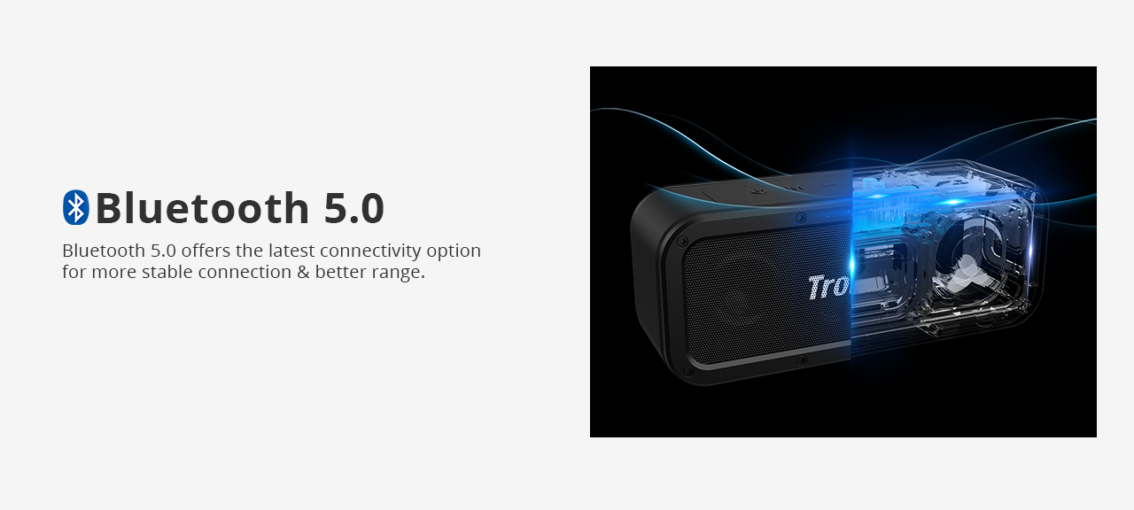 Tronsmart Force SoundPulse ™ 40 W Bluetooth 5.0 Reproduktor Google Assistant IPX7 TWS & NFC 15 hodín prehrávania
