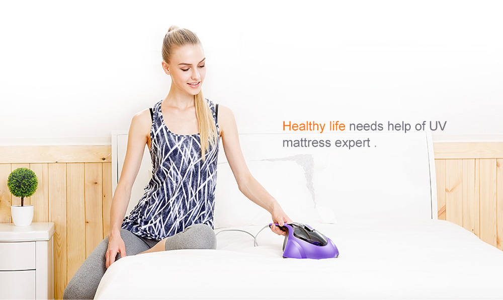 PUPPYOO WP606 UV Mattress Vacuum Cleaner for Mites Removal - Purple