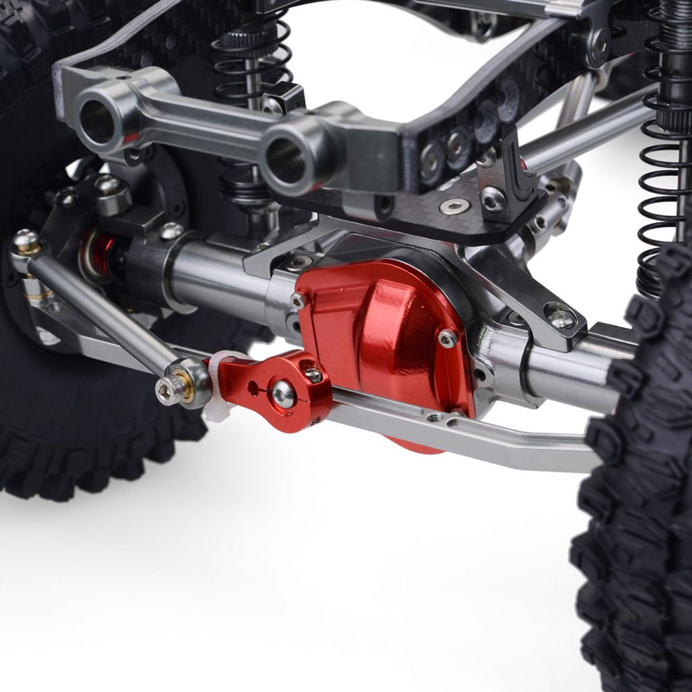 Upgrade Straight Bridge 313mm Wheelbase CNC Aluminum And Carbon Fiber Chassis For 1/10 AXIAL SCX10 RC Rock Crawler Climbing Vehicle