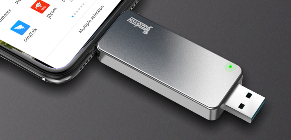 Coolfish GO NGFF 512GB SSD Multifunctional Dual-purpose External Solid State Drive Max Read Speed 480MB/S M.2 Interface - Dark Gray