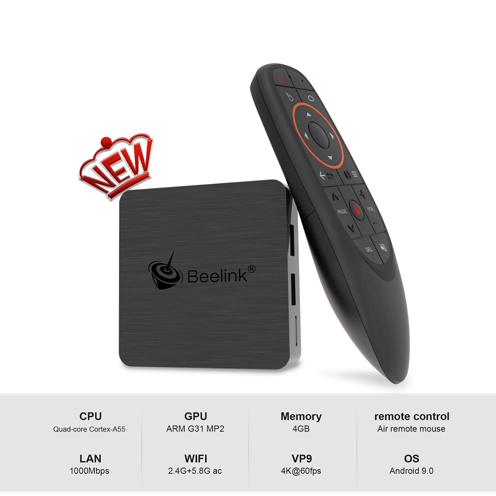Beelink GT1 MINI-2 TV Box with Voice Remote Amlogic S905x3 4G/32G 2.4G+5.8G WiFi 1000Mbps LAN USB3.0