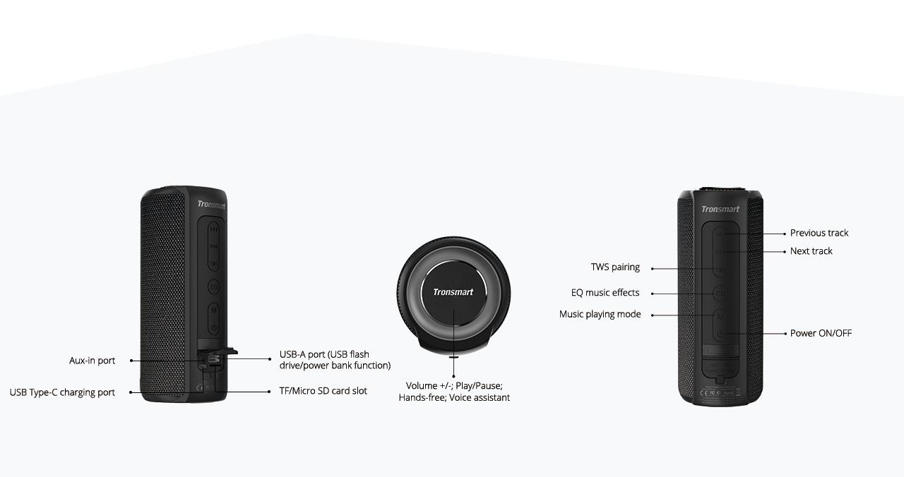 """Résultat de recherche d'images pour """"Element T6 Plus SoundPulse™ Portable Bluetooth Speaker"""""""""""