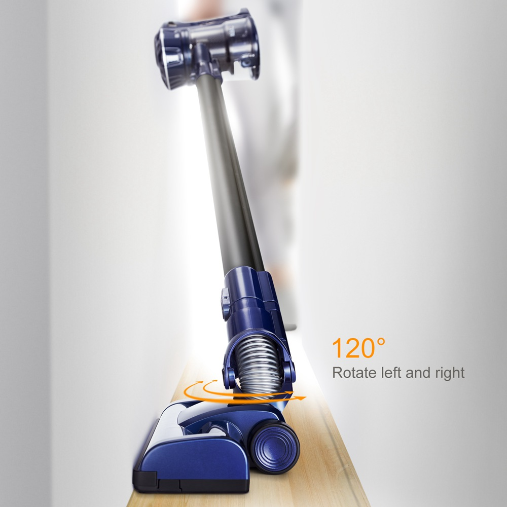 PUPPYOO WP536 Cordless Stick Lightweight Vacuum Cleaner 9Kpa Powerful Suction 2 In 1 Vacuum - Blue