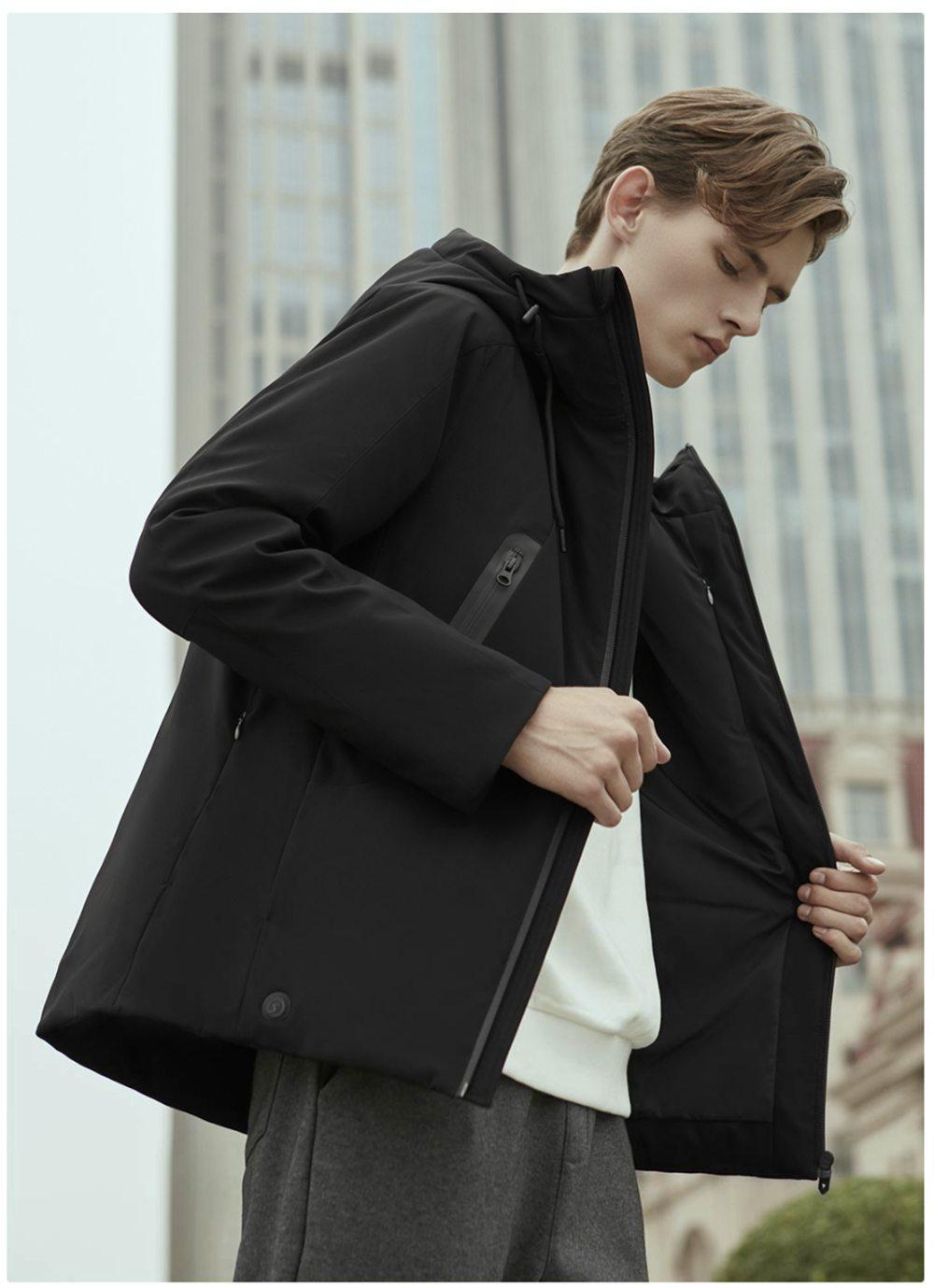 90FUN intelligens hőmérséklet szabályozó kabát M méret M fekete