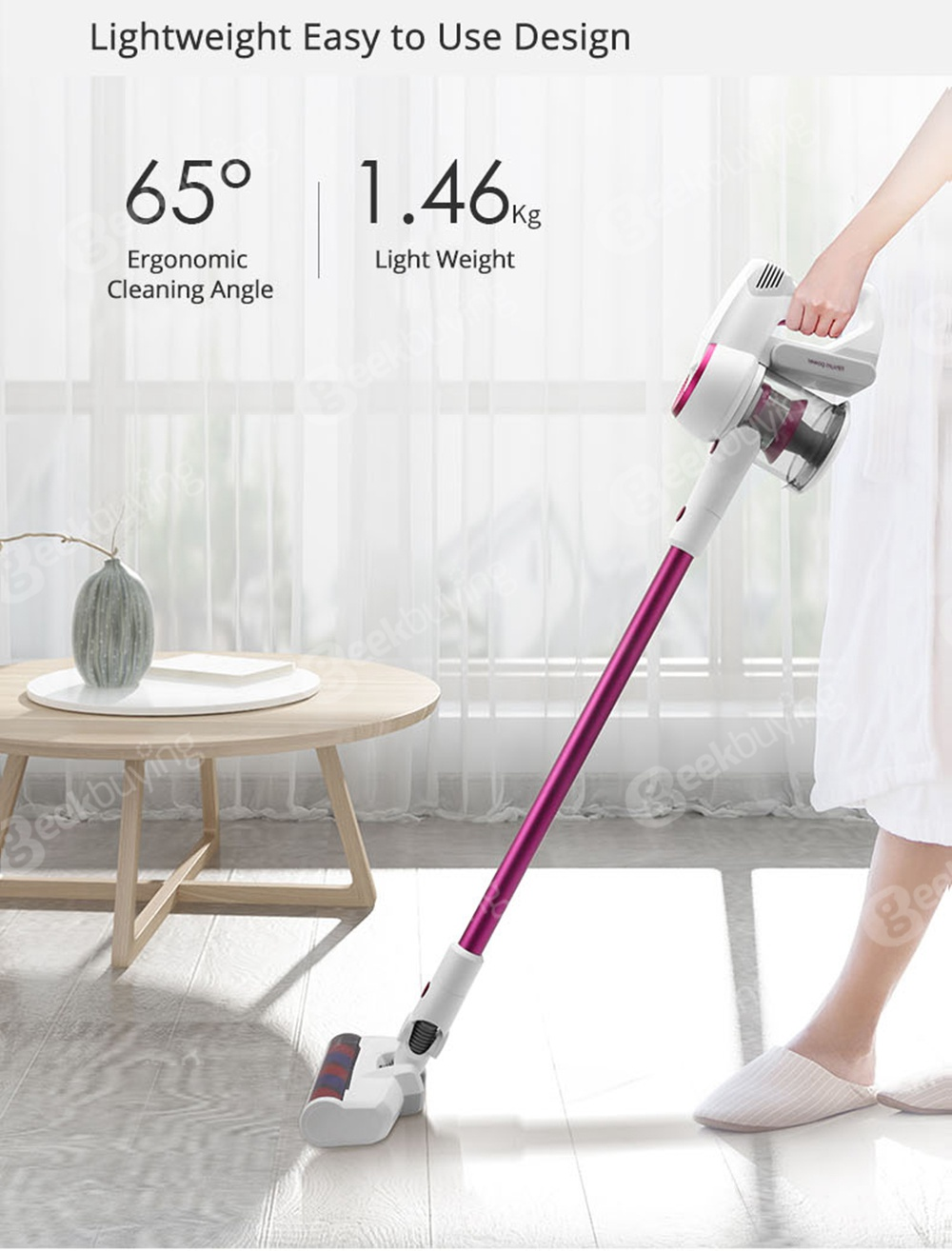 Xiaomi JIMMY JV53 Handheld Cordless Vacuum Cleaner 125AW Powerful Suction High-efficiency Motor Anti-wrapped Brush - Purple