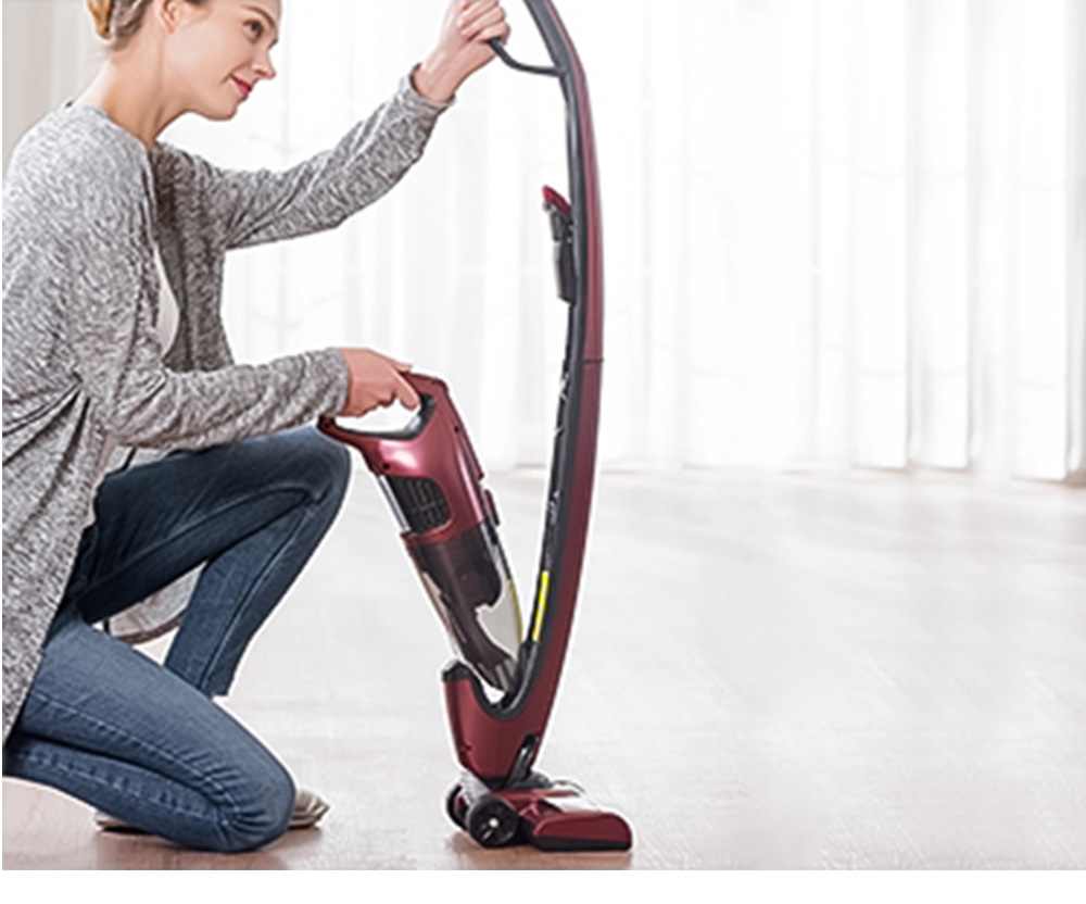 PUPPYOO WP511 Upright Cordless Handheld Vacuum Cleaner 7000Pa Suction Power 30 Minutes Runtime 2 In 1 Vacuum - Red
