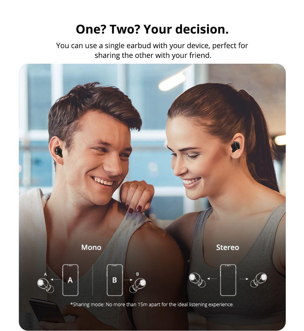 Tronsmart Spunky Beat Bluetooth 5.0 TWS CVC 8.0 Earbuds Qualcomm QCC3020 Independent Usage aptX/AAC/SBC 24H Playtime Siri Google Assistant IPX5