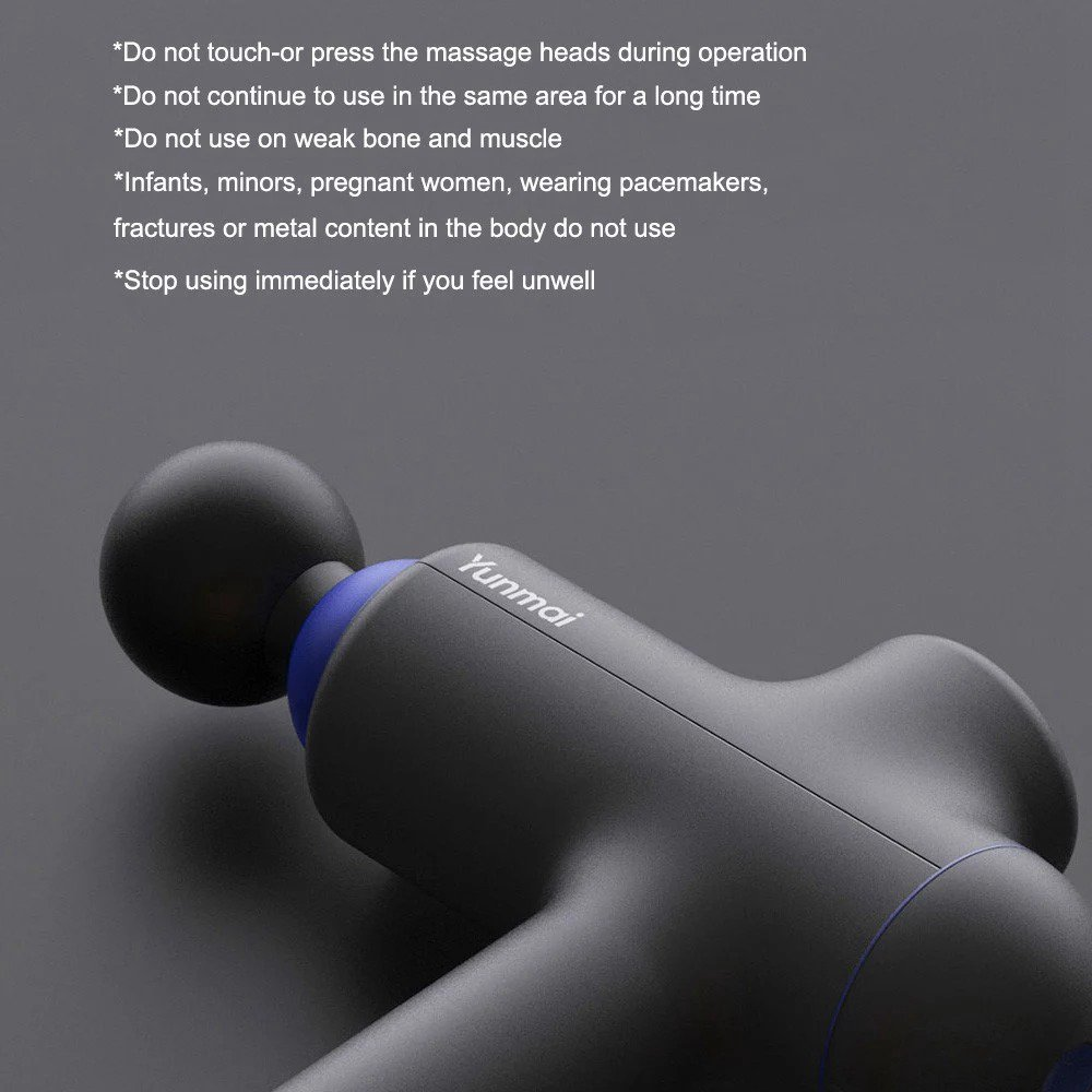 Xiaomi YUNMAI Handheld Massage Fascia Gun Muscular Therapeutic Apparatus 3 Modes 3200 RPM - Dark Gray