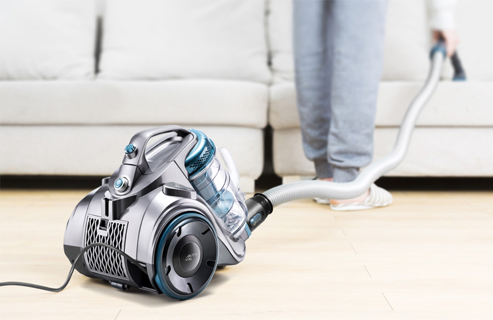 PUPPYOO WP9002F Powerful Canister Vacuum Cleaner Adjustable Washable Low Noise - Blue