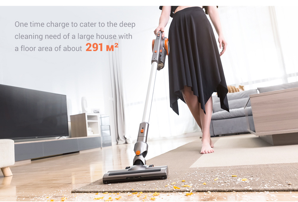 PUPPYOO A9EU Household Vacuum Cleaner 17Kpa Powerful Suction 45 Minutes Runtime 2 In 1 Vacuum - Silver