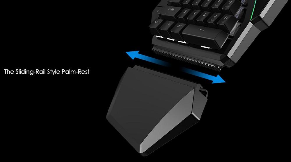 Gamesir Gk100 One Hand Mechanical Keyboard Black