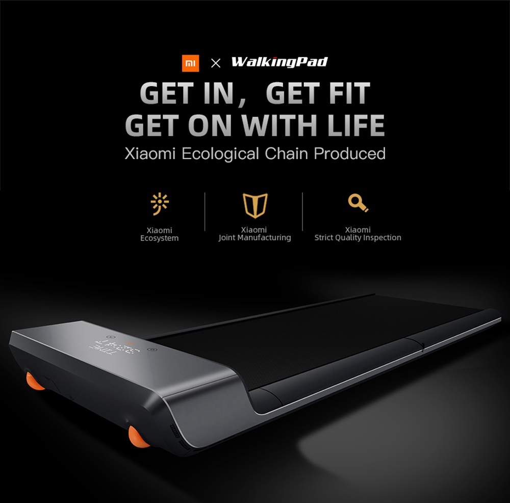WalkingPad A1 Foldable Electric Treadmill Handheld Remote Control Pressure Sensor Fitness Walking Machine Manual Automatic Mode