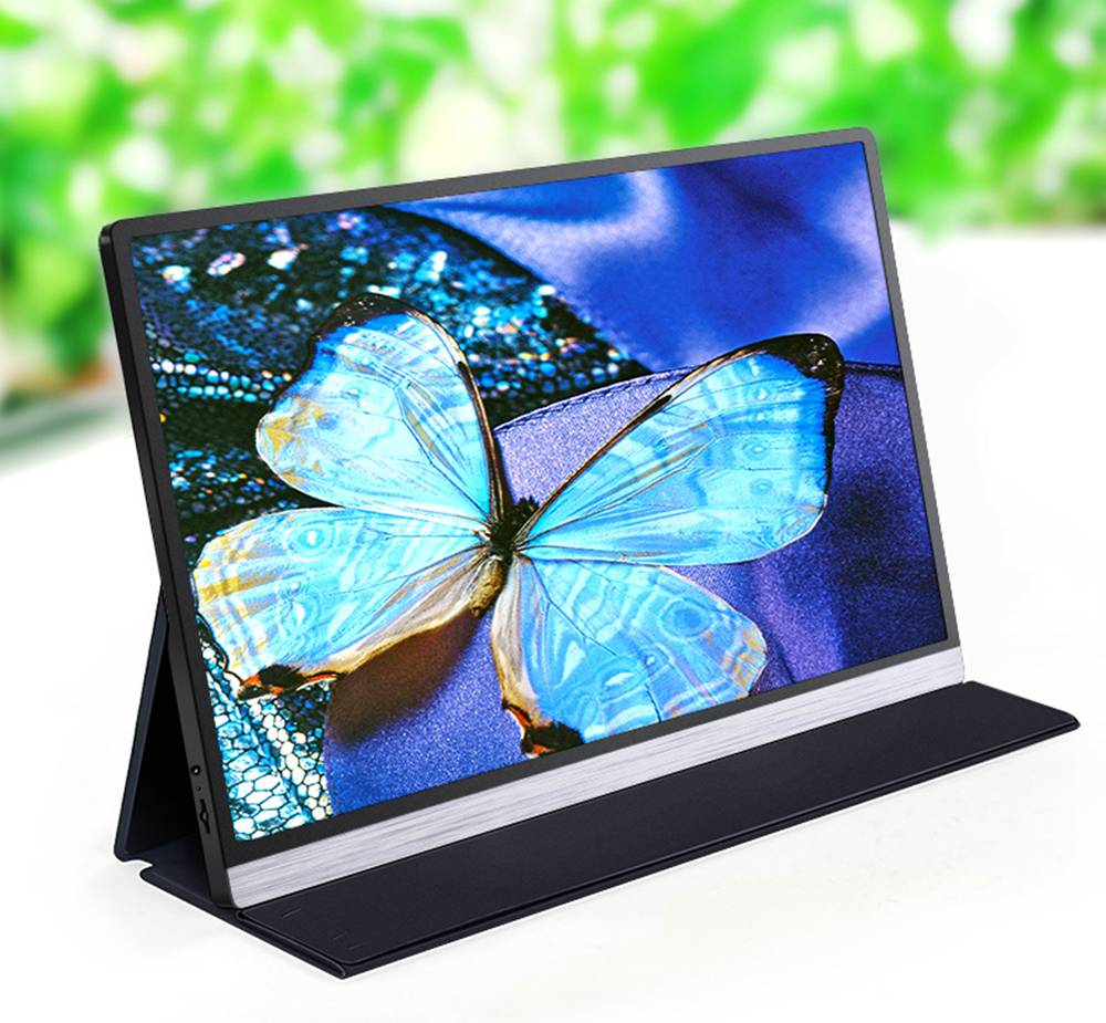 AOSIMAN ASM-156UC Portable Monitor 15.6 Inch IPS HDR 3840*2160 Resolution Full Metal Body Type-C+Mini HDMI Dual Port