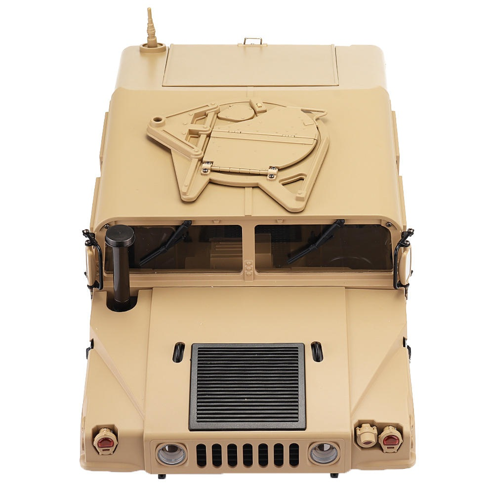 HG P408 1/10 U.S.4X4 Military Vehicle Truck RC Car Spare Parts Body Shell With Decoration Part Sticker - Khaki