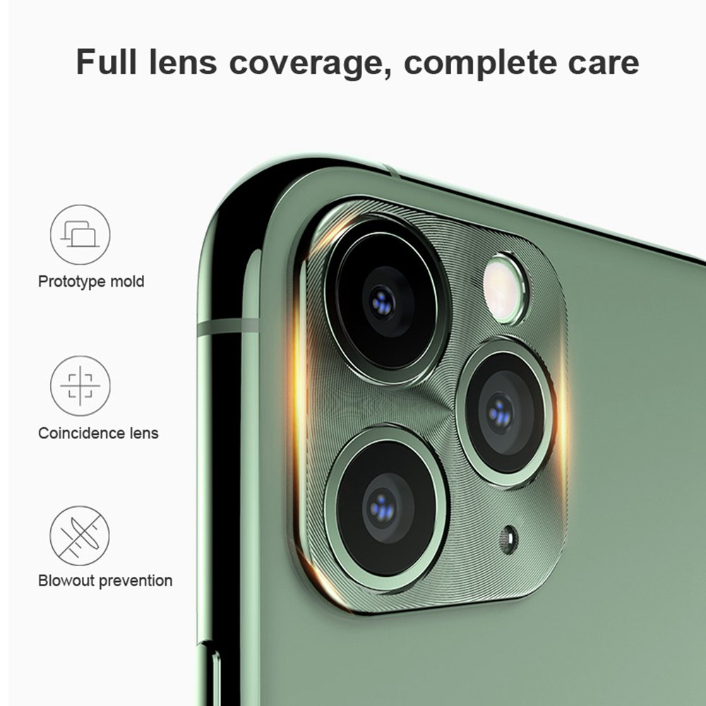 Hat-Prince Metallic Mobile Phone Camera Lens Protective Cover For Apple iPhone 11 Pro / Apple iPhone 11 Pro Max - Gold