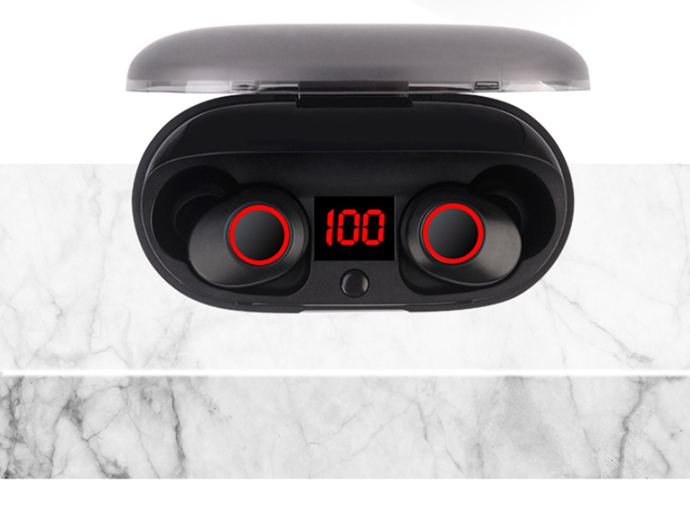 J29 Bluetooth 5.0 TWS Earbuds Siri Used Independently Noise Reduction Volume Adjustment - Black