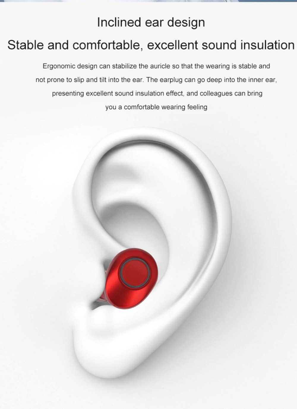 J29 Bluetooth 5.0 TWS Earbuds Siri Used Independently Noise Reduction Volume Adjustment - Black