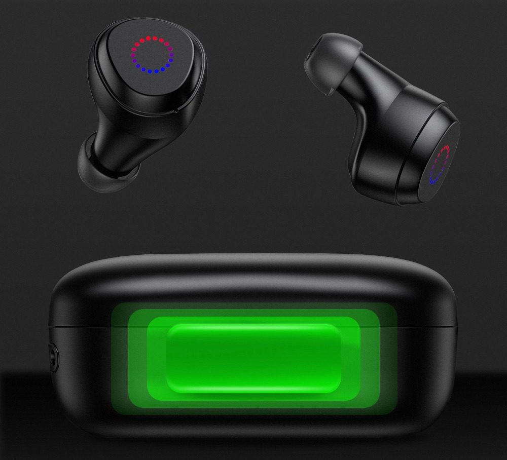 JOYROOM JR-TL1 Bluetooth 5.0 TWS Earphones Fingerprint Touch IPX7 - Black
