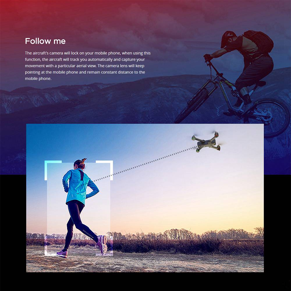 MJX Bugs 4 W B4W 4K 5G WIFI FPV GPS Foldable RC Drone With Ultrasonic Optical Flow Positioning RTF - Two Batteries Bag