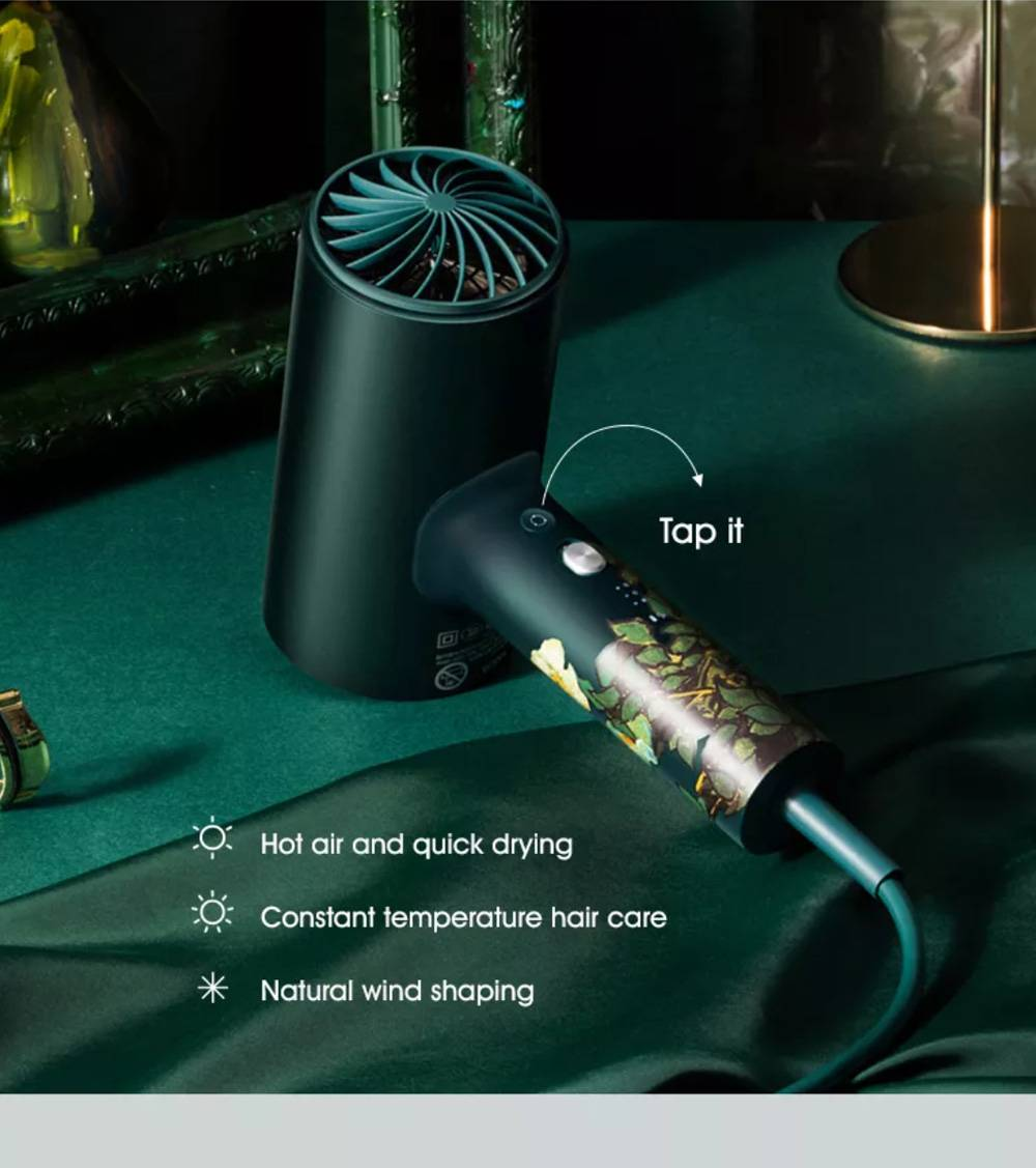 SOOCAS H3S 1800W Electric Negative Ion Hair Dryer From Xiaomi Youpin - Green