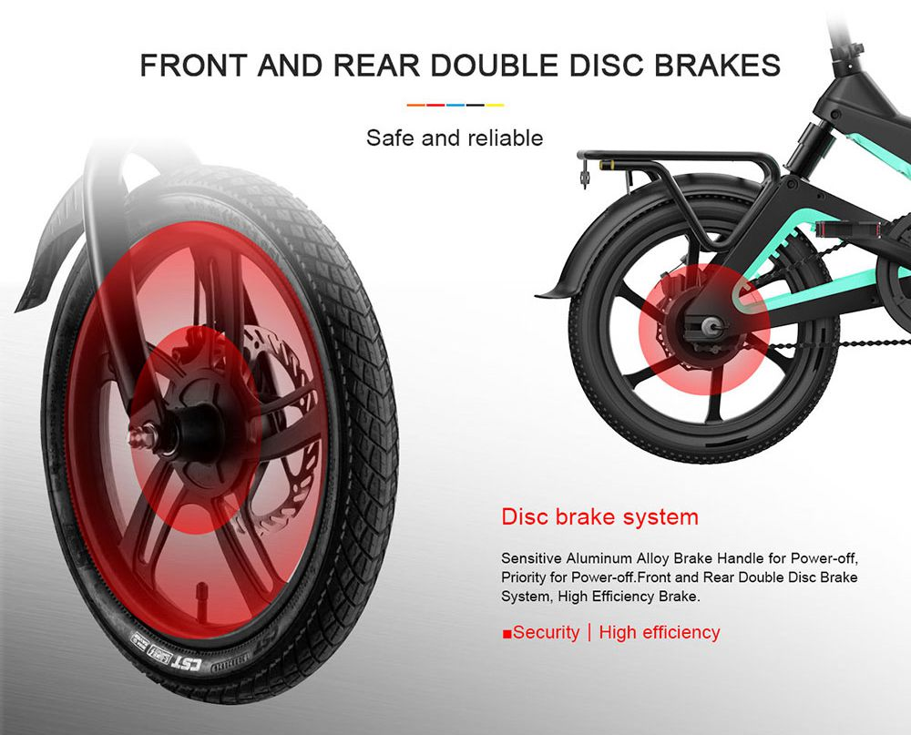 Samebike JG7186 Portable Folding Smart Electric Moped Bike 250W Motor Max 25km/h 16 Inch Tire - Yellow