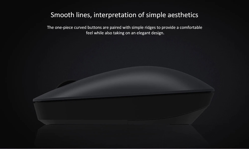 Xiaomi Wireless Mouse Lite Lightweight Flexible 2.4G Wireless 1000DPI For PC Laptop - Black